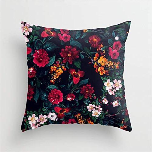 midnight garden throw pillow case