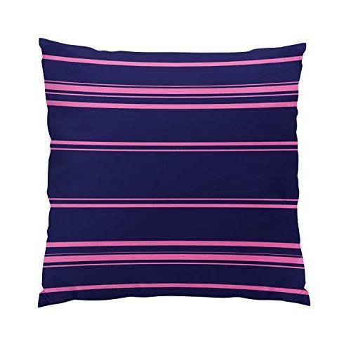 modern navy blue pink stripes