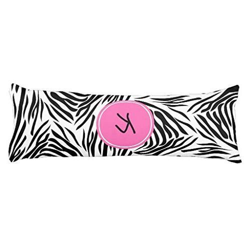 monogram black white zebra print