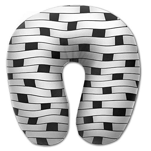 neck pillow black white stripe