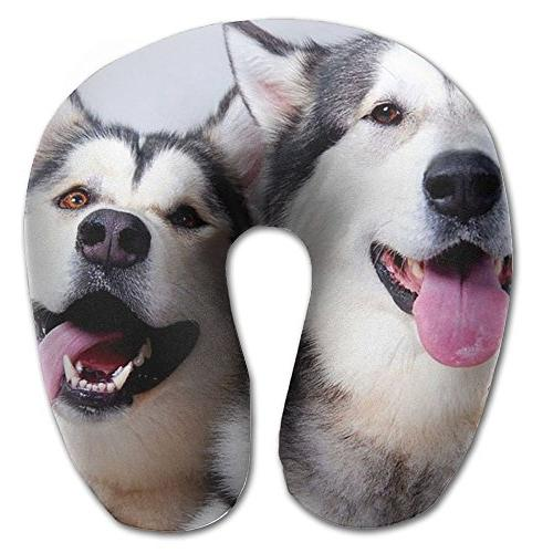 neck pillow dogs husky picture