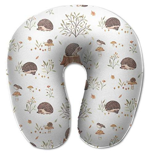 neck pillow hedgehog pattern u