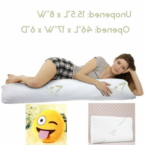 2017 Full Body Pillow Hypoallergenic Memory Foam Filling Sof