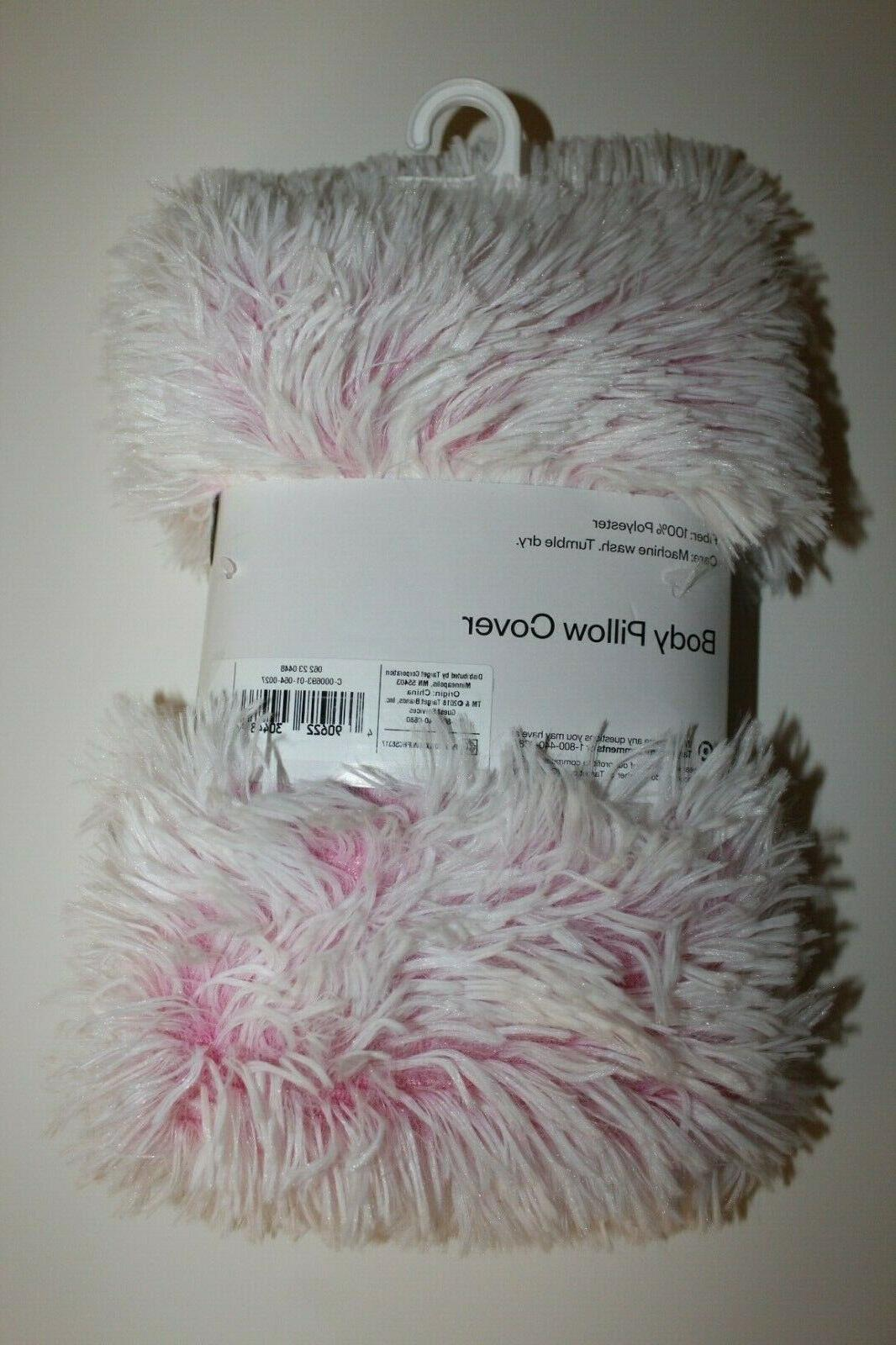 NEW Body White Soft Fur Pillowcase