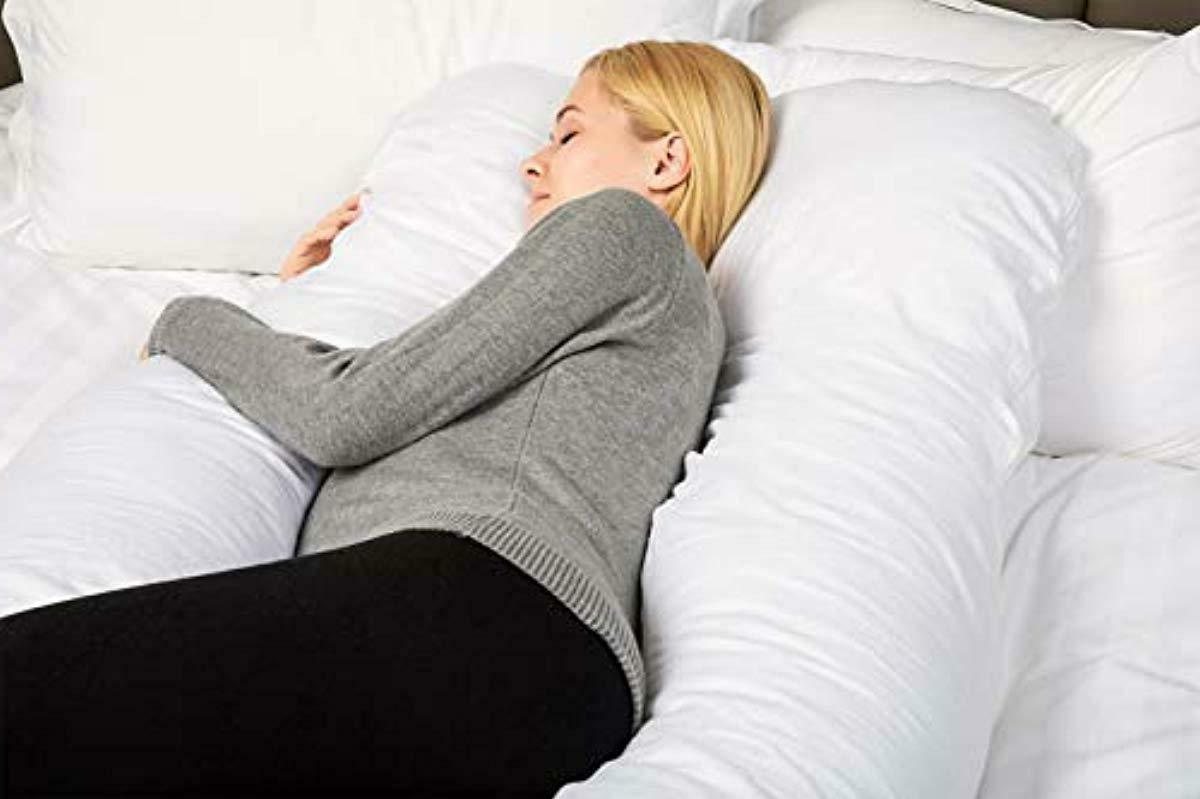 New - QUEEN ROSE Pregnancy Pillow- U Full Pillow Back
