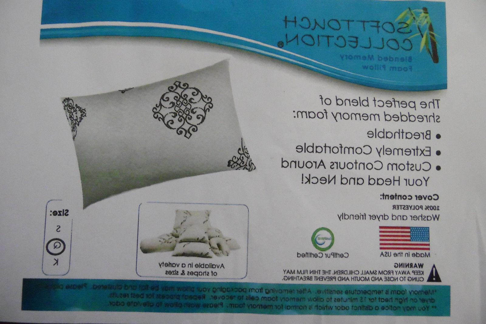 hotel quality memory foam blend breathable hypoallergenic
