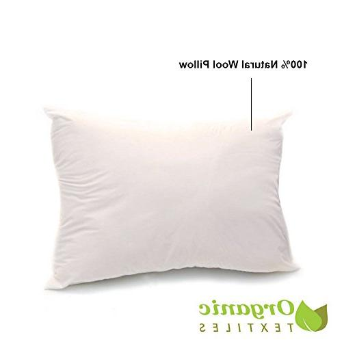 organic cotton covered wool filled