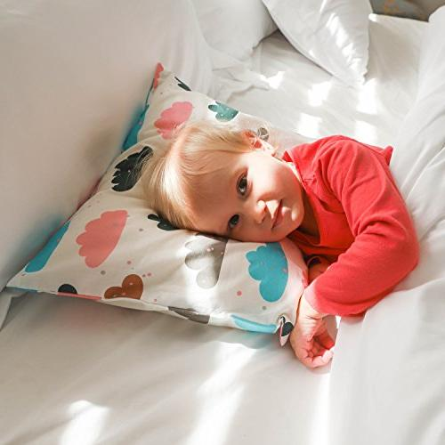 Organic Toddler X by Cotton Toddlers, Kids, Infant, Pillow for Toddler Pillow - Boy and Girl, Collection