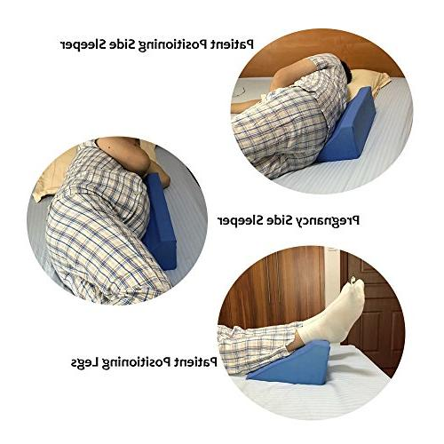 Patient Back Pillow Case Bedroom Body Alignment Air Bed Medical Side Sleeper Positioners Pad Reflux - helps Laying