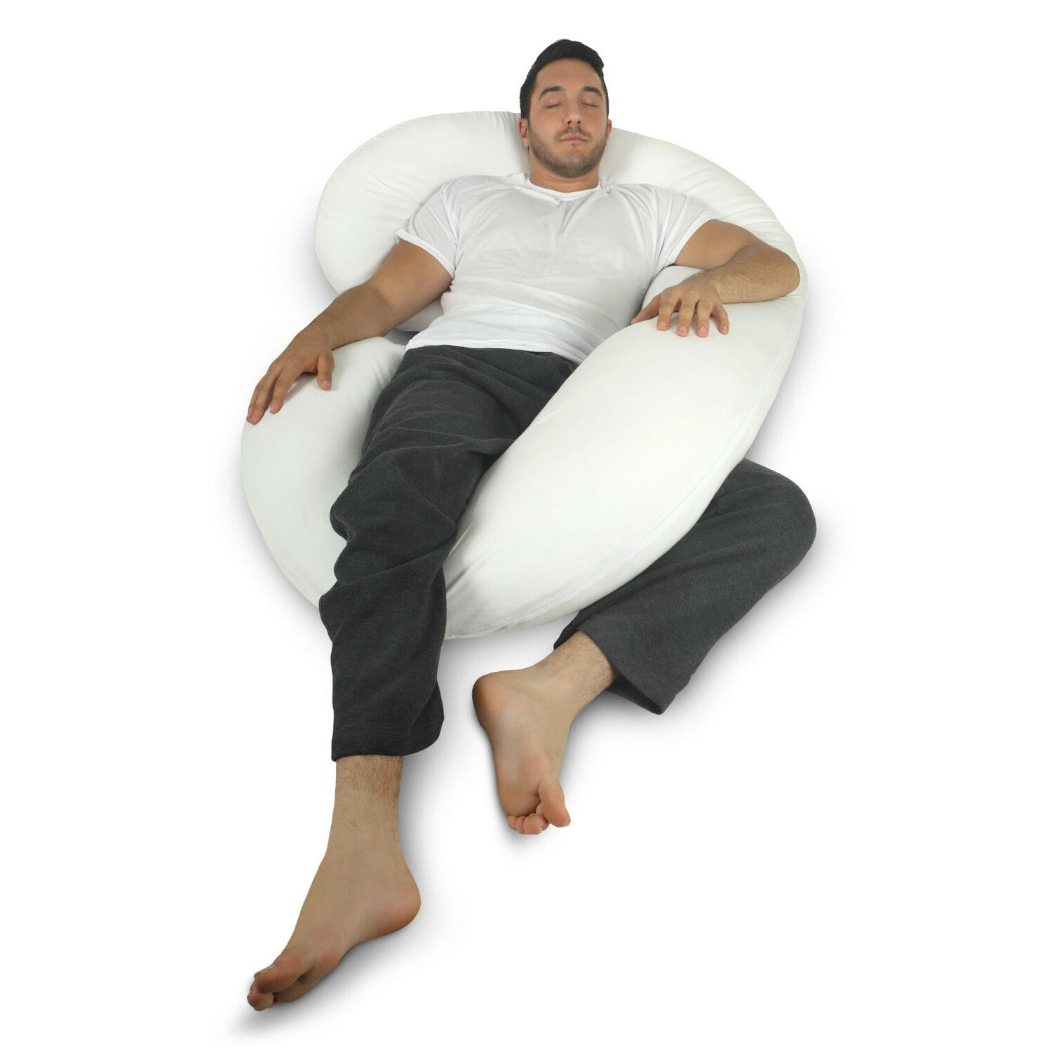 Full Body C Shaped Bed Pillow for & Women by