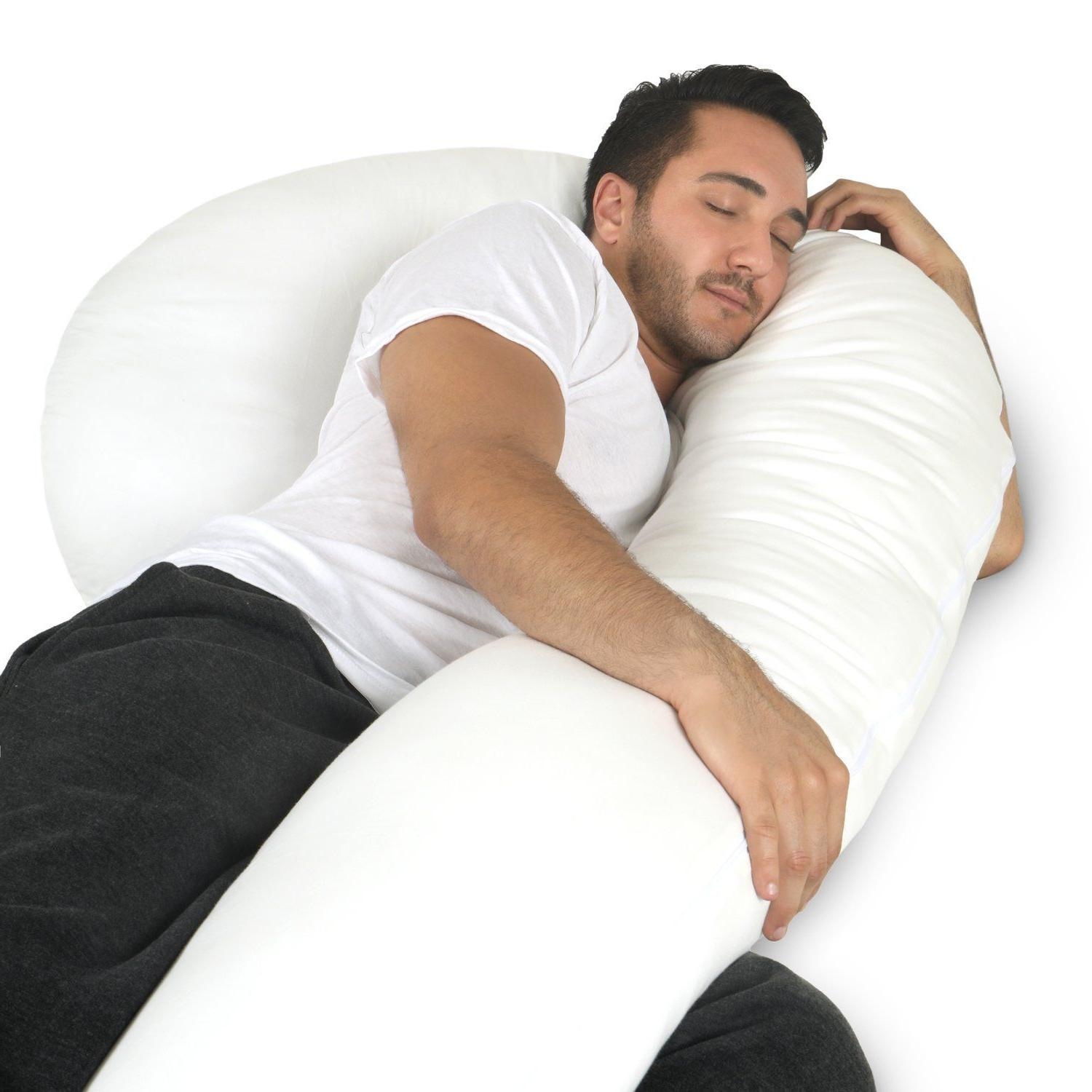 Full Body Pillow - C Shaped Bed Pillow for Men & Women by Ph