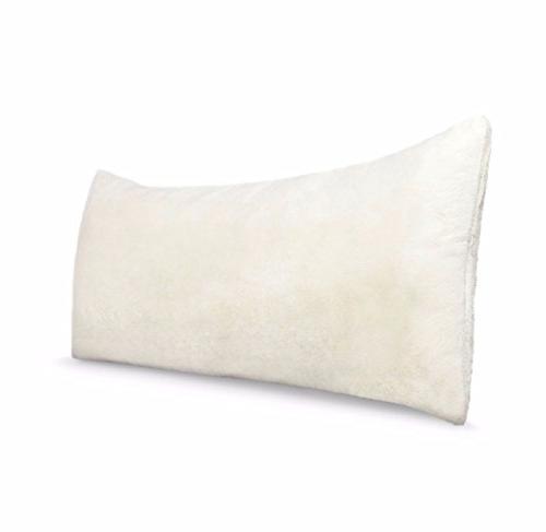 pillow cover white faux fur