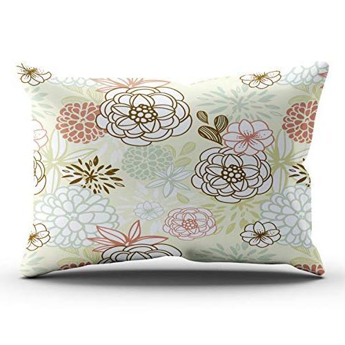 pillowcases colorful retro autumn dahlia