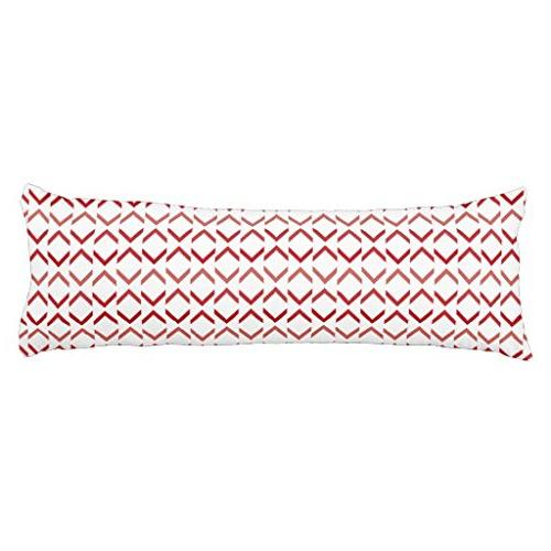 poppy red chevron drop pattern