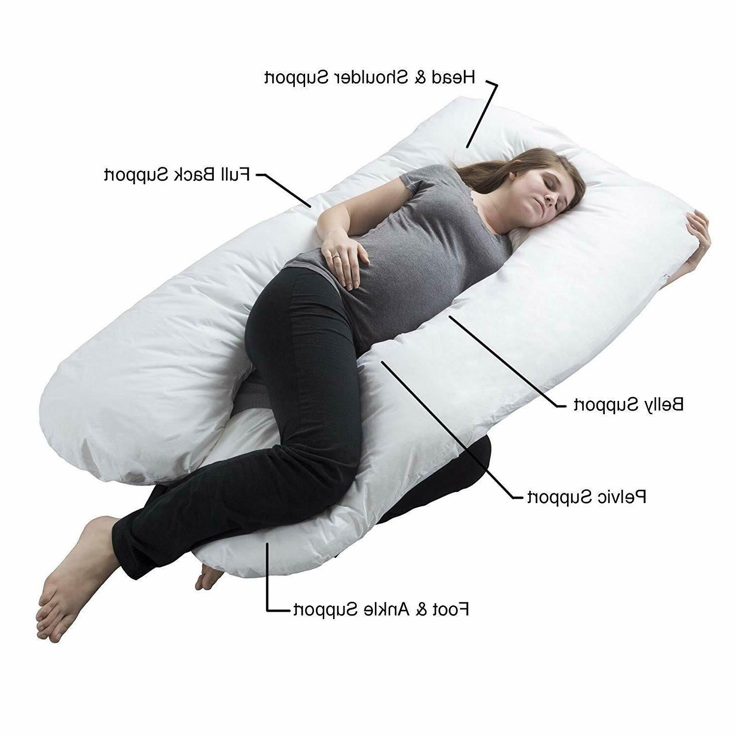 Pregnancy Pillow, Maternity Pillow Contoured U-Shape