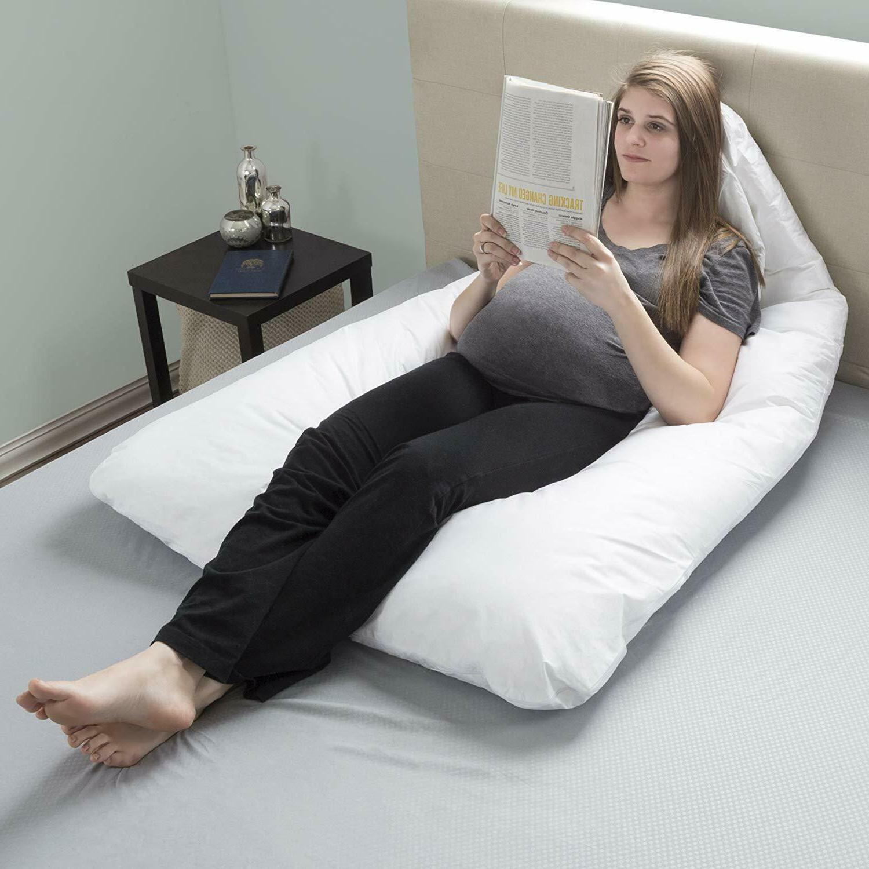 Pregnancy Full Body Maternity U-Shape Bluestone