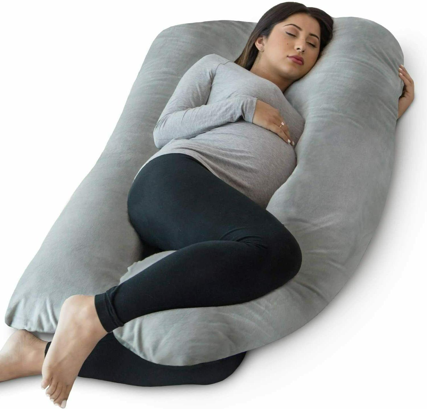 Pregnancy Pillow - Full Body Pillow and Maternity Support fo