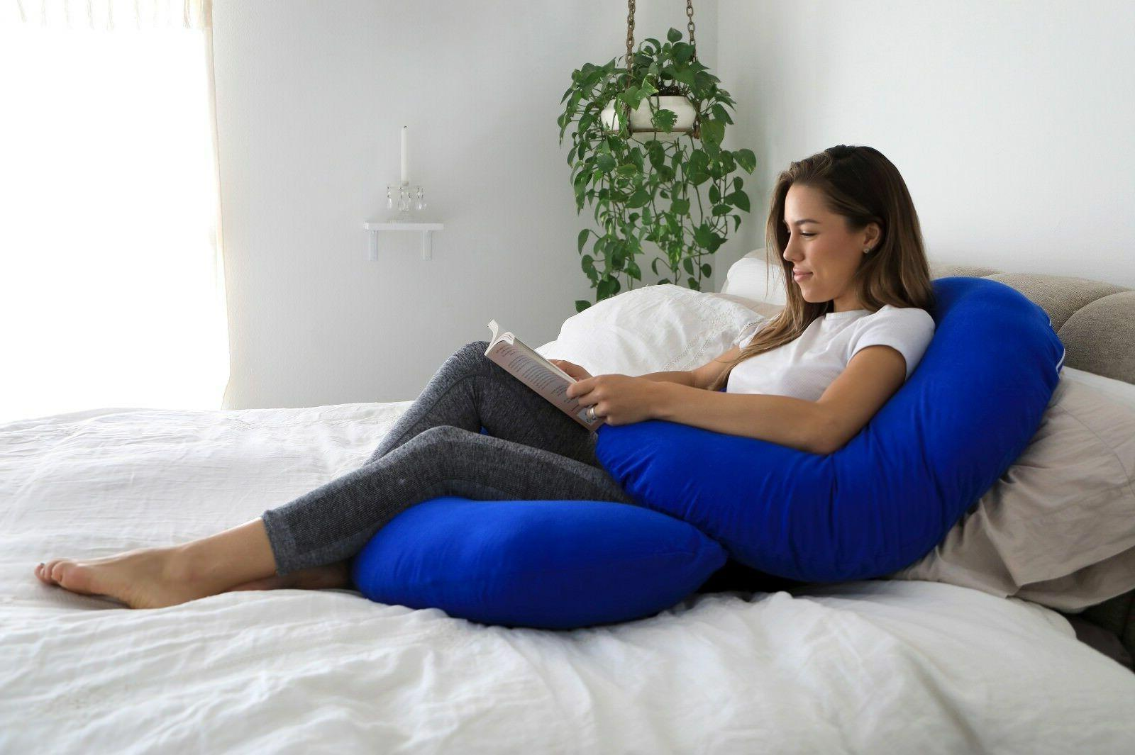 Pregnancy Pillow - Full Body Pillow for Maternity & PharMeDoc