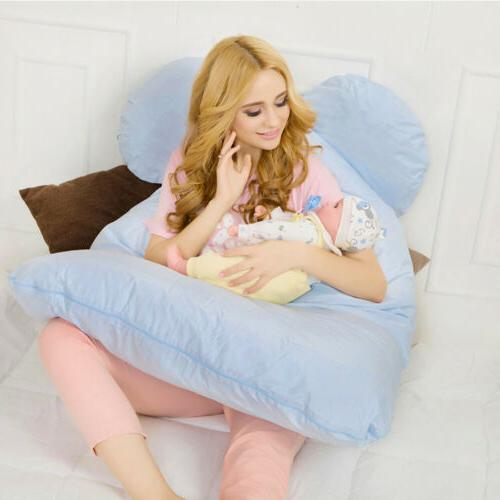 Pwr Pregnancy Pillow Maternity Belly Contoured Body U Shape