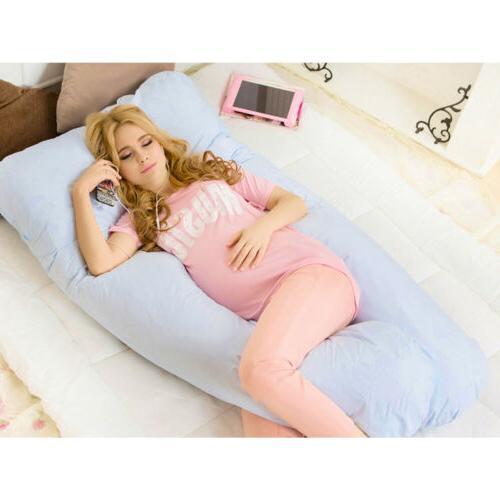 U-Shape Pregnancy Pillow + Detachable Blue