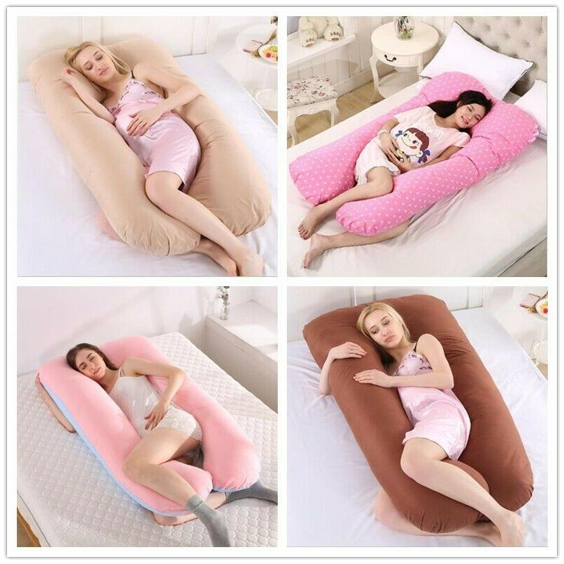 Pregnancy U Shaped Cotton Full Pillow Case Support