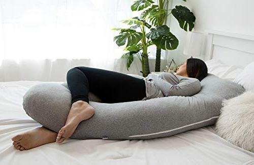 PharMeDoc Pillow, Full Body Maternity Extension - for Back, Hips, for Pregnant