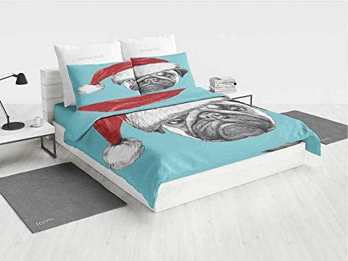 pug lol twin bedding set