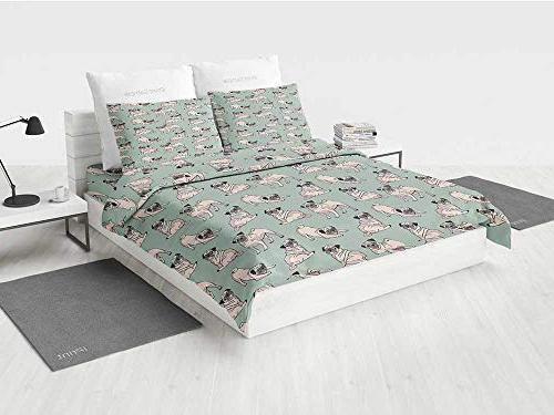 pug white bedding sets dogs