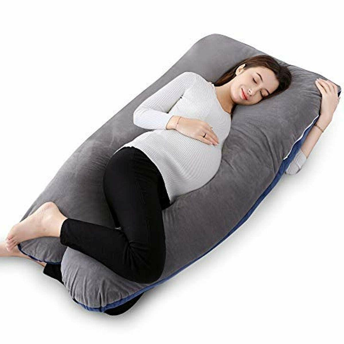 QUEEN ROSE 55in Pregnancy Pillow and Body Pillow with Velvet