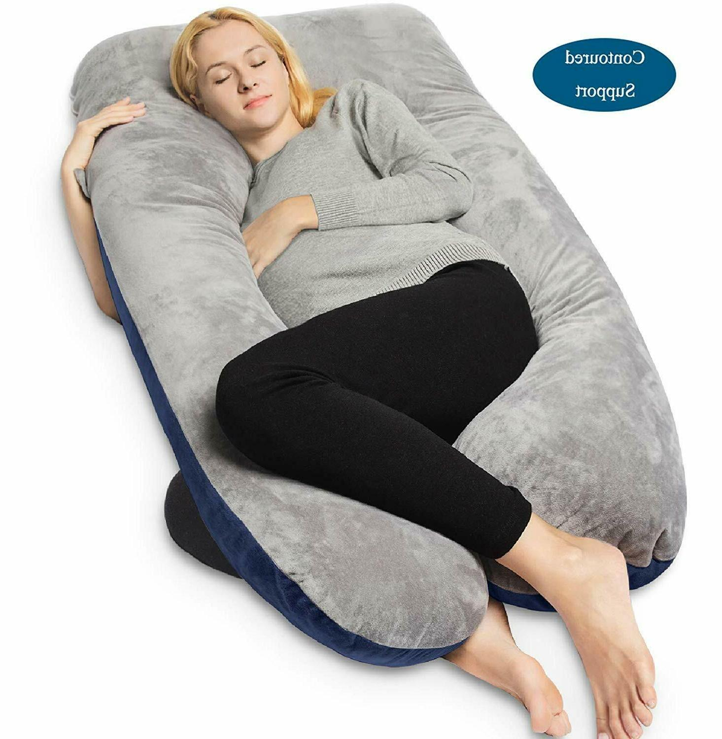 queen rose u shaped body pillow maternity