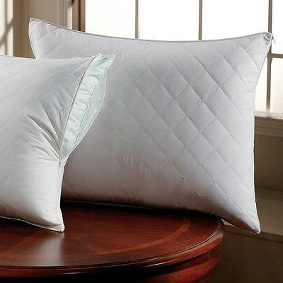 quilted sateen pillow protector by downlite