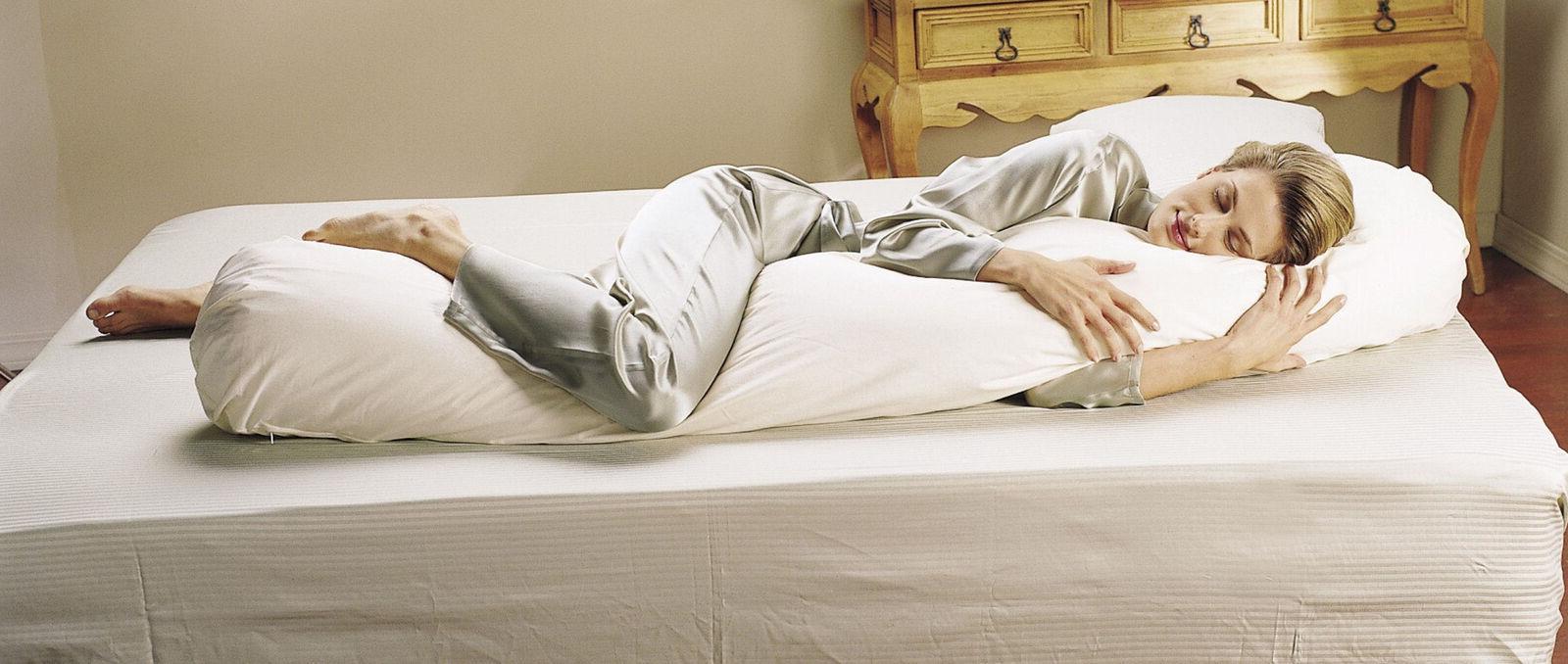 sleeping bean body pillow cover cotton zippered