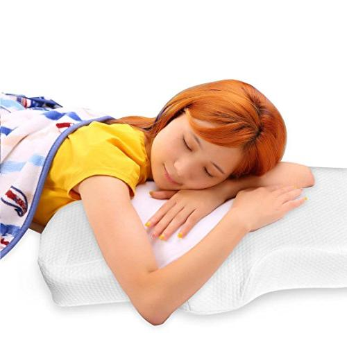 Queen Rose Memory Neck for Neck and Side Sleeping Pillow - with Support Your Back/Hand/Shoulder