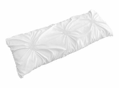solid white shabby chic pillow