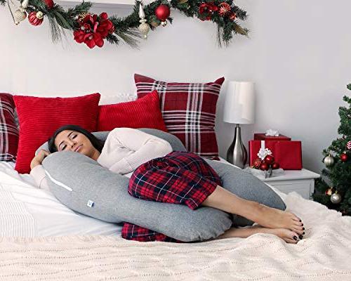 PharMeDoc U-Shape Full Body Pillow Maternity Support Extension - Back, Hips, for Women