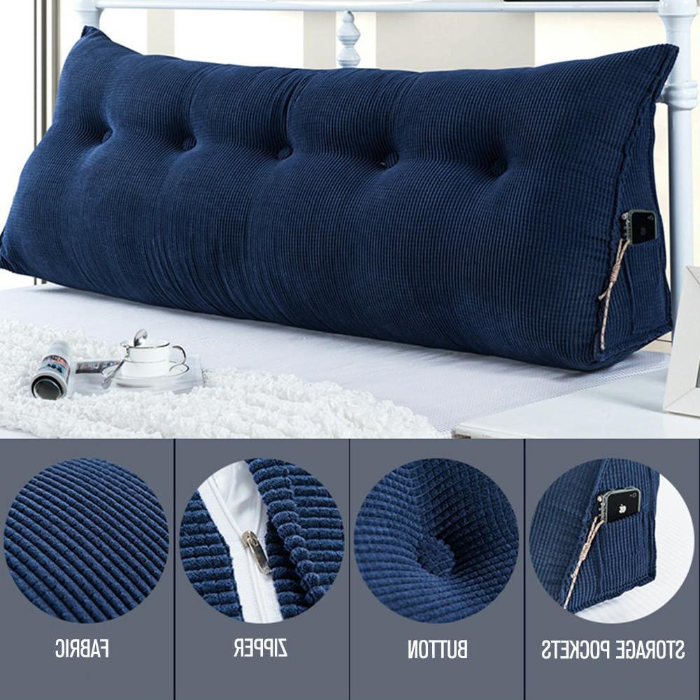 triangular wedge reading lumbar pillow backrest cushion
