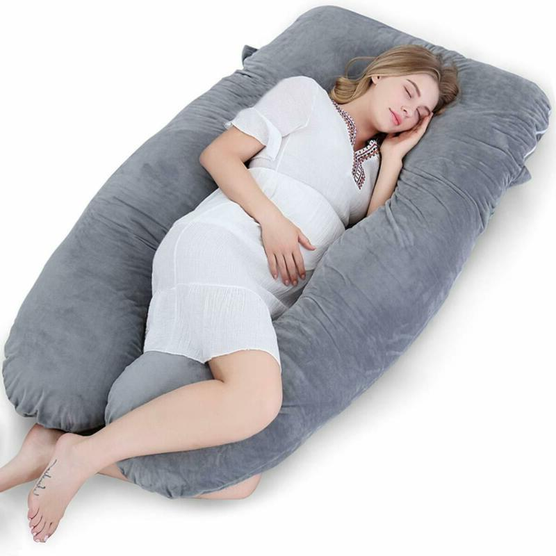 Meiz U Shaped Body Maternity Pregnancy Pillow With Zipper Re