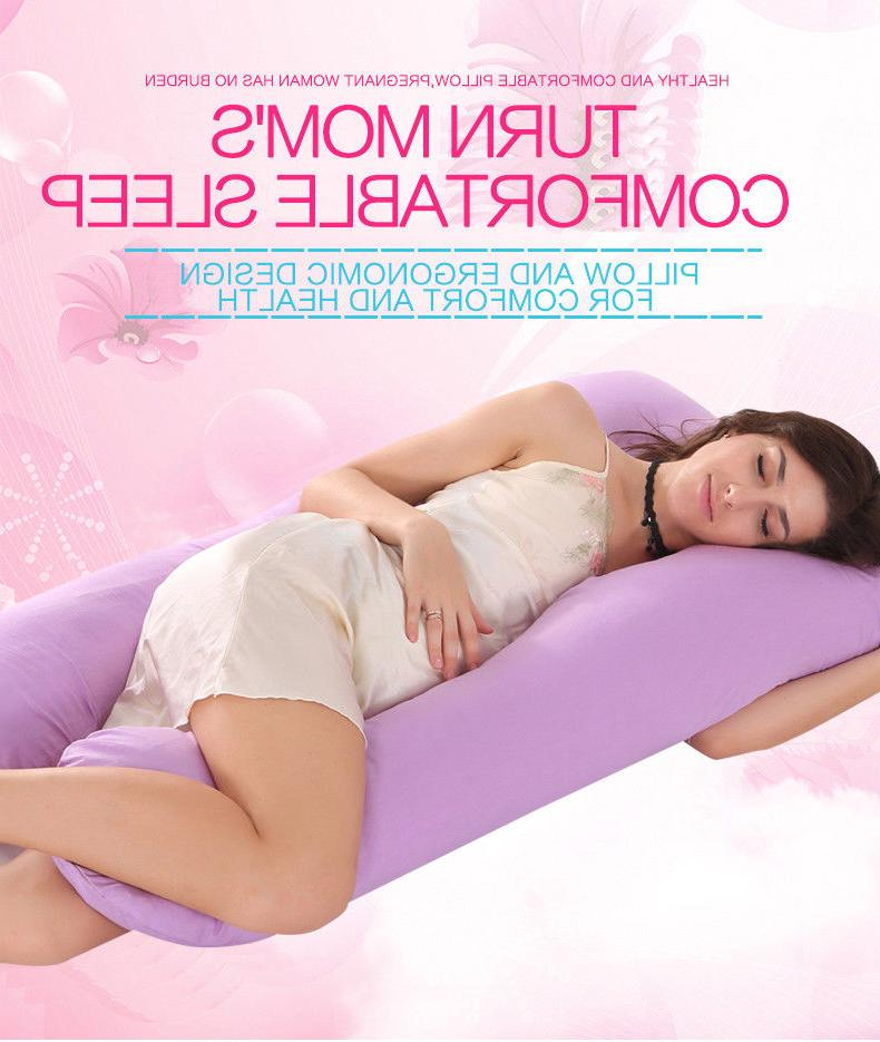 U-Shaped Full Body Pregnancy Pillow Maternity Support Side Sleeping Cushion