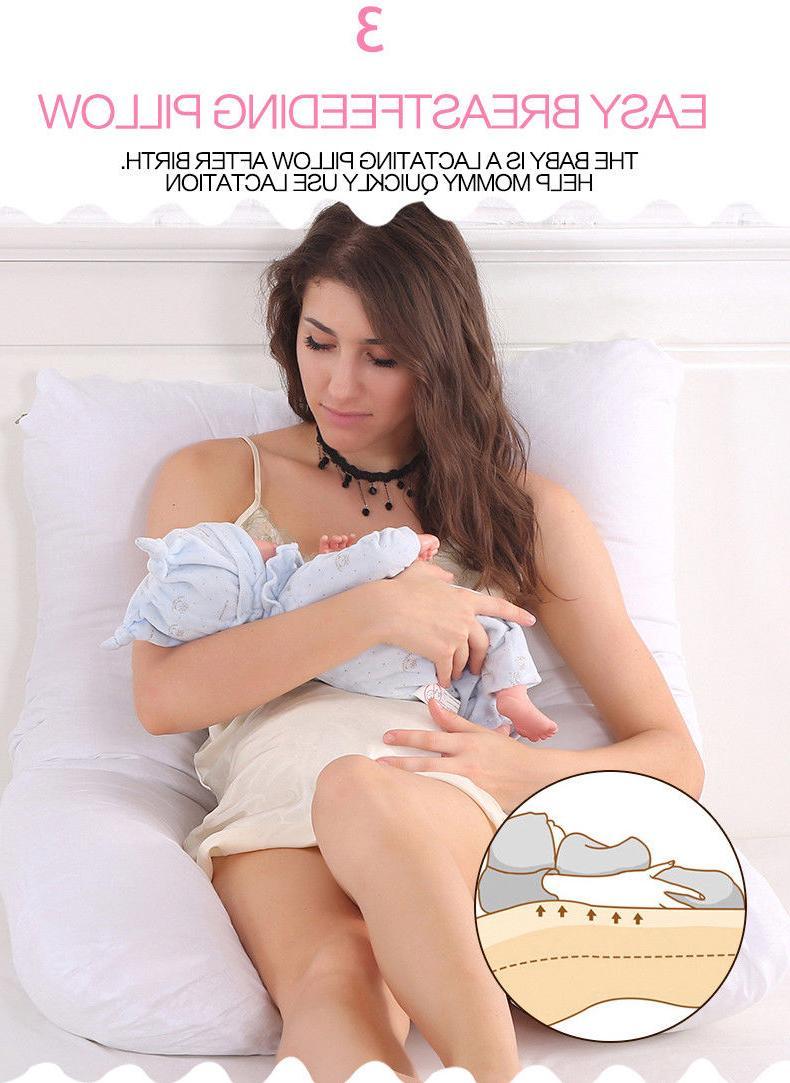 U-Shaped Body Pillow Maternity Side Sleeping Cushion