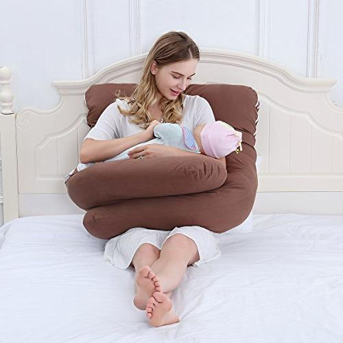 Meiz Unique C-Shaped Pillow Sleeping Support with Comfortable Cover