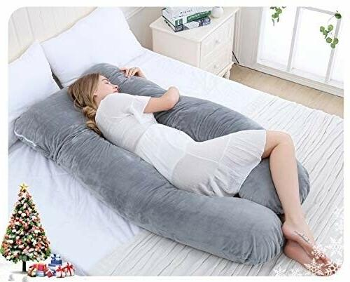 Meiz U Body Pillow with Zipper Removable Cover