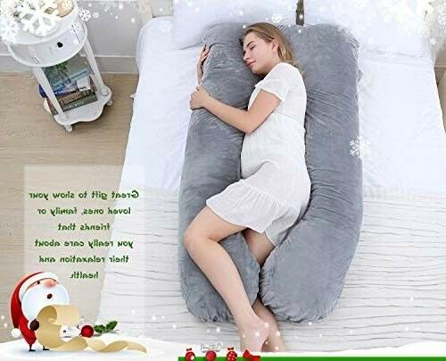 Meiz U Shaped Pregnancy Body Pillow with Removable