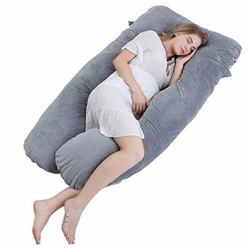u shaped pregnancy body pillow with zipper