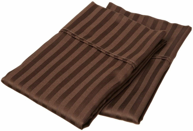US 1 Pair Pillow Case 100% Egyptian Cotton 1000 Thread Count