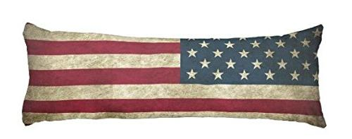 vintage mucky american flag pillow