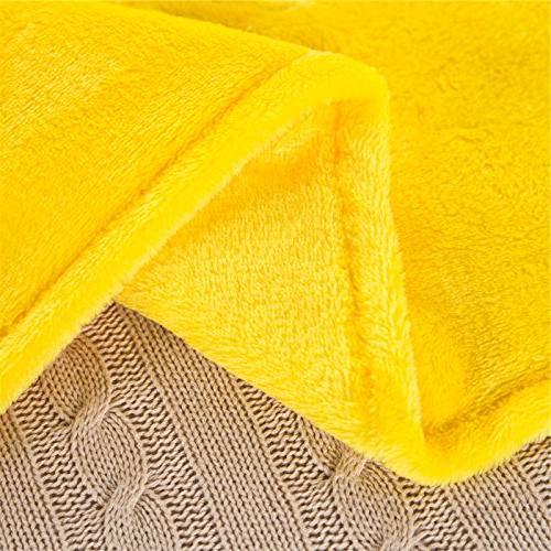 Zhiyuan Warm Fleece Body Pillow Cover Long 17.5 59 Bright Yellow