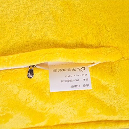 Zhiyuan Warm Fleece Pillow 17.5 59 Bright Yellow