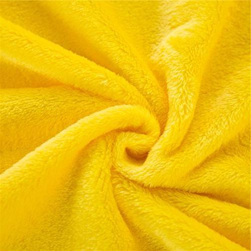 Zhiyuan Fleece Pillow 17.5 x 59 Bright Yellow