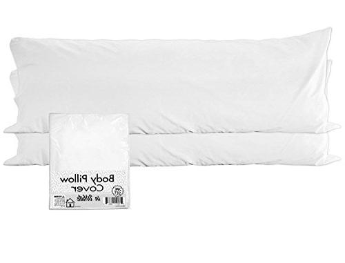white pillow case covers