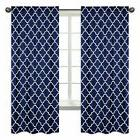 Window Treatment Panel Curtain For Sweet Jojo Modern Navy Wh